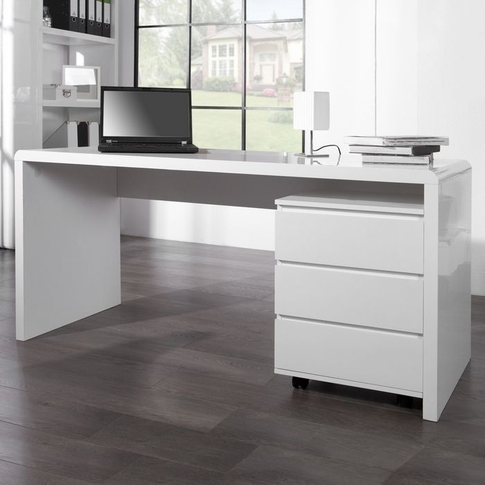 Design Retro Lounge Schreibtisch Laptoptisch Soho Weiss