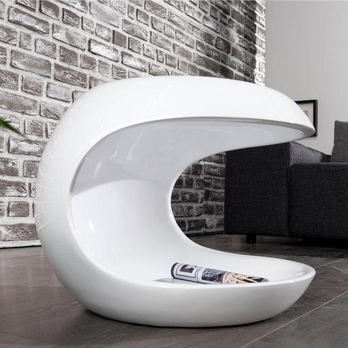 Designertisch in Hochglanz