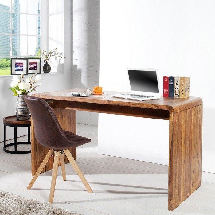 Schreibtisch daipur sheesham massiv gewachst 150cm for Schreibtisch bestellen