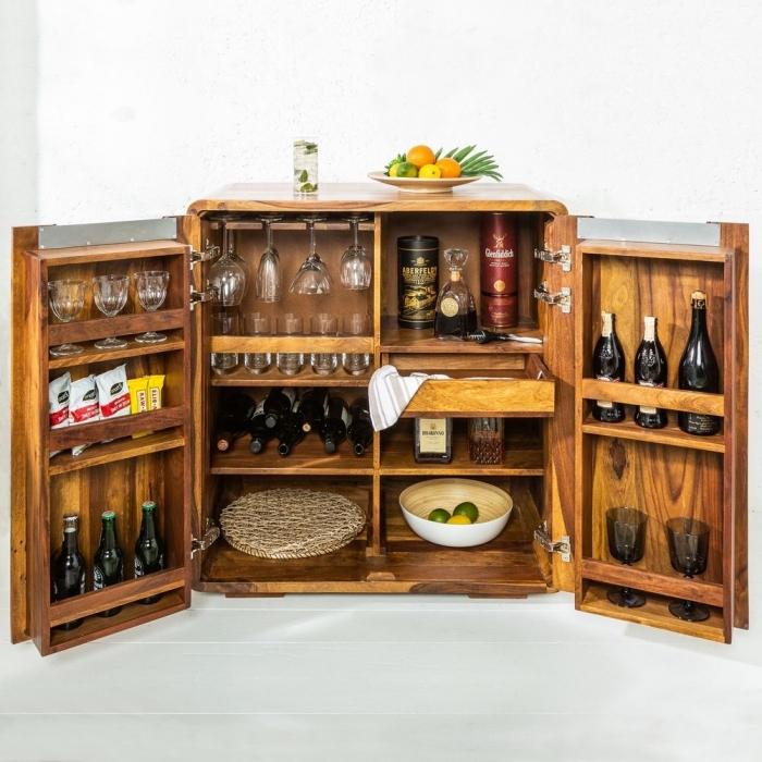 barschrank daipur sheesham massiv holz gewachst 100cm x 90cm portofrei kaufen cag onlineshop. Black Bedroom Furniture Sets. Home Design Ideas