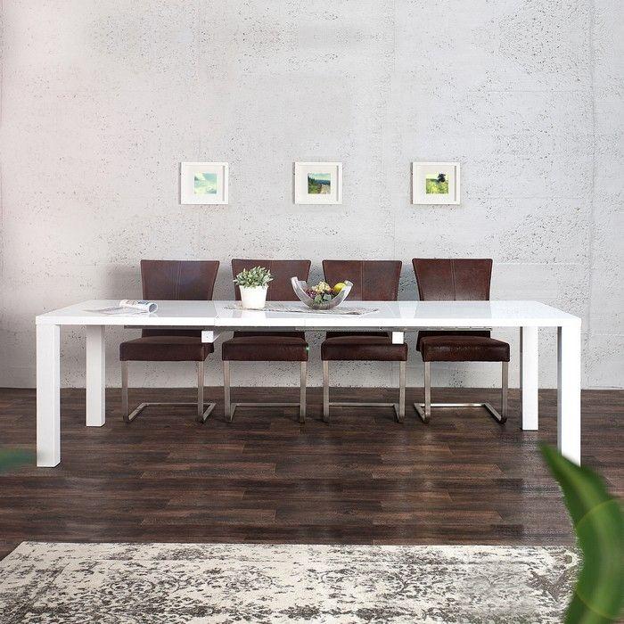Esstisch designermöbel  Esstisch LUCIA Weiß Hochglanz 160-200-240cm ausziehbar portofrei ...