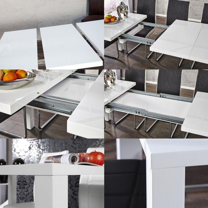 Esstisch Weiß Hochglanz Ausziehbar Günstig ~ Esstisch LUCIA Weiß Hochglanz 160200240cm ausziehbar portofrei günstig kauf