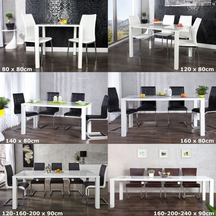 design esstisch lucia weiss hochglanz high gloss 160 200 240cm ausziehbar neu ebay. Black Bedroom Furniture Sets. Home Design Ideas