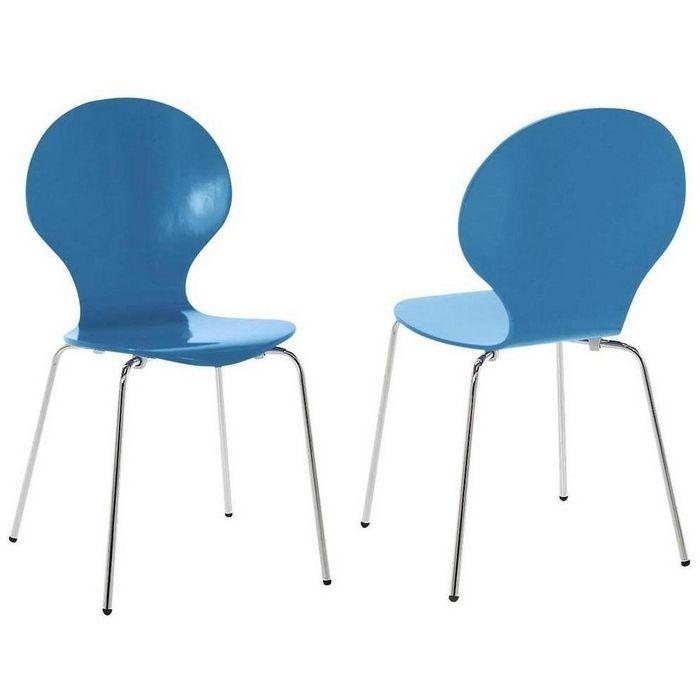 retro design klassiker stuhl stapelstuhl holzstuhl jacobsen blau neu ebay. Black Bedroom Furniture Sets. Home Design Ideas
