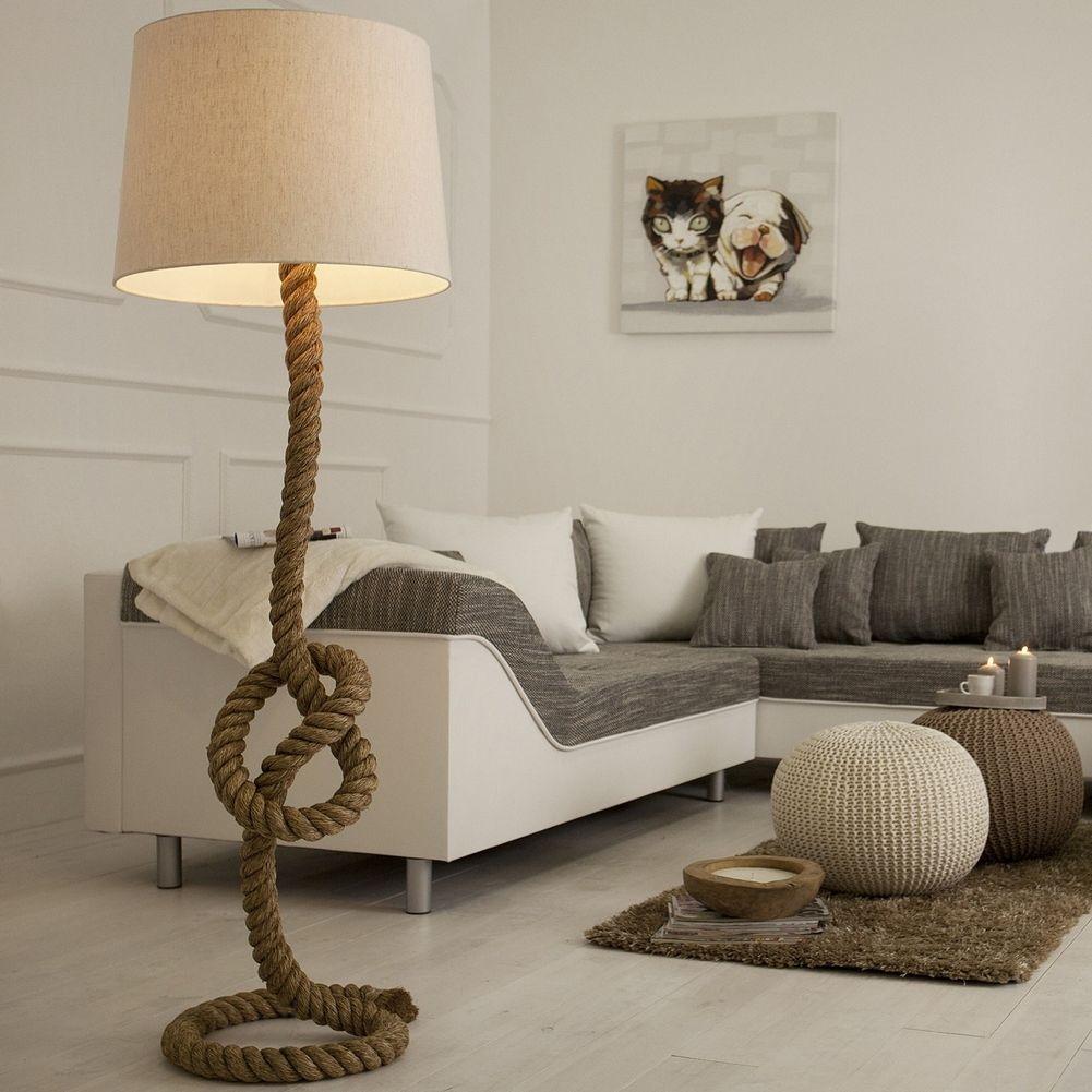 design maritim stehlampe stehleuchte schiffstau. Black Bedroom Furniture Sets. Home Design Ideas