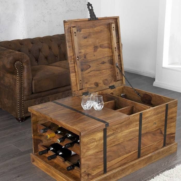 couchtisch hausbar agra sheesham massiv holz gewachst. Black Bedroom Furniture Sets. Home Design Ideas