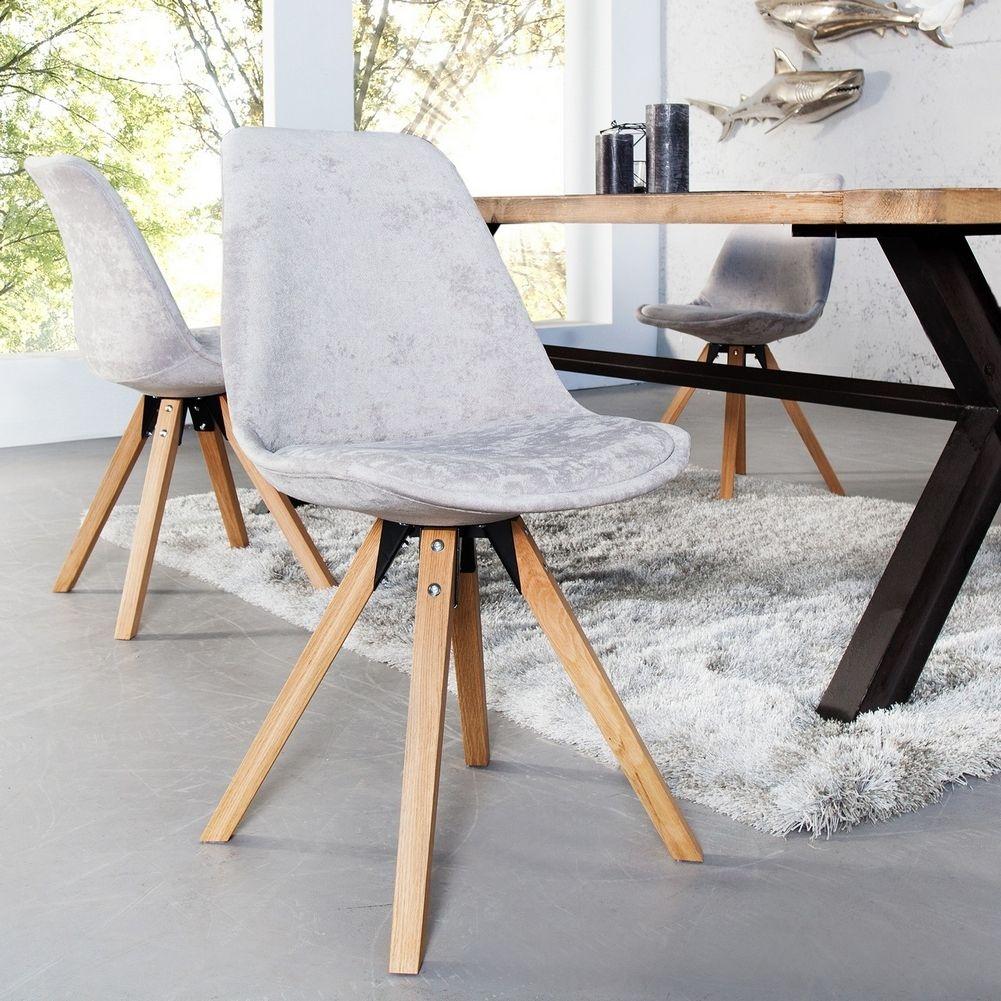 Retro stuhl g teborg hellgrau eiche hochflor im skandinavischen stil portofrei online kaufen - Esszimmerstuhl skandinavisch ...