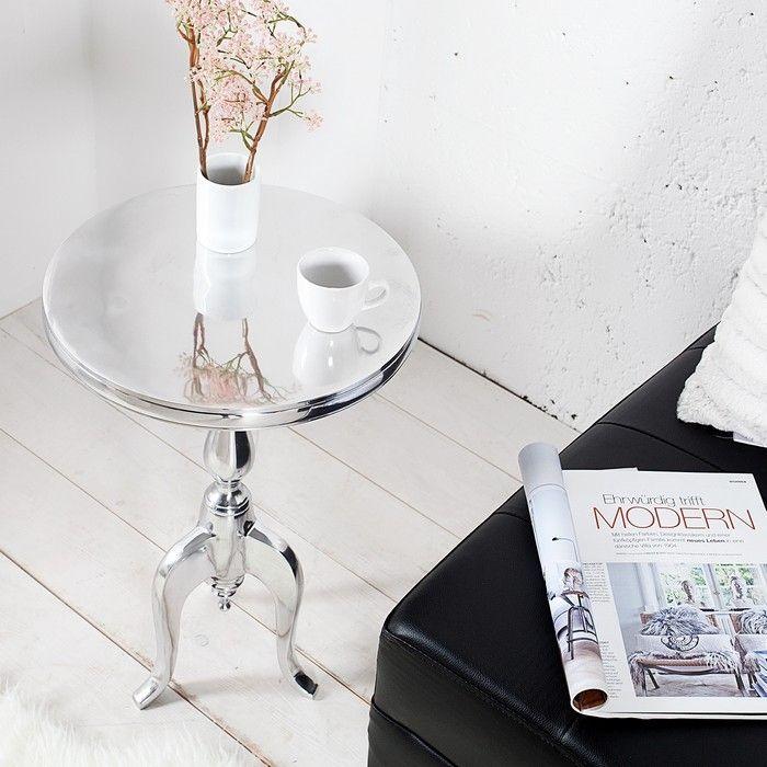 barock beistelltisch laval rund silber aus aluminium 55cm h he portofrei g nstig kaufen cag. Black Bedroom Furniture Sets. Home Design Ideas