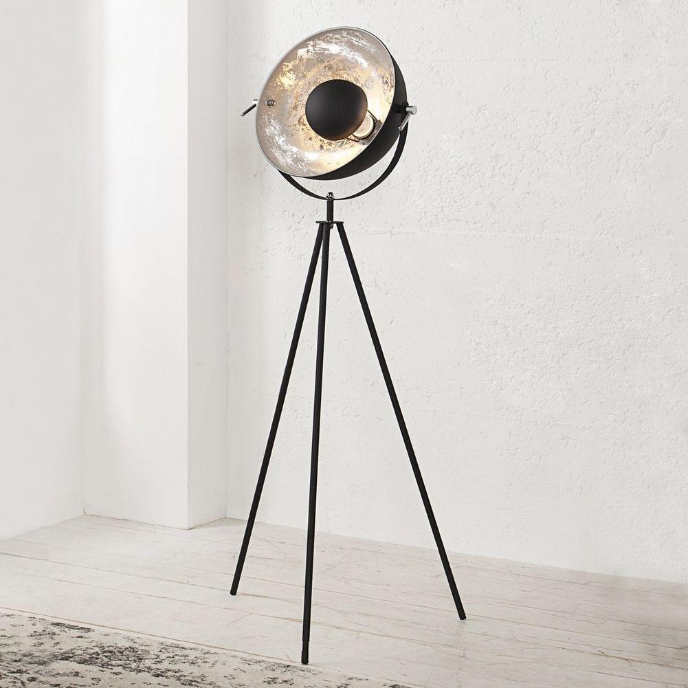 stehlampe spot schwarz silber 140cm h he portofrei kaufen cag onlineshop designerm bel. Black Bedroom Furniture Sets. Home Design Ideas