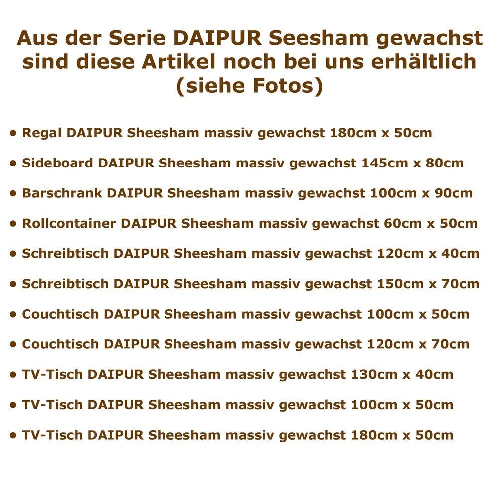 design tv tisch fernsehtisch daipur aus sheesham massiv holz gewachst 100cm ebay. Black Bedroom Furniture Sets. Home Design Ideas