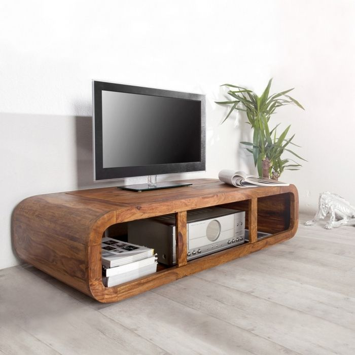 design tv tisch fernsehtisch daipur aus sheesham massiv holz gewachst 100cm ebay. Black Bedroom Furniture Sets. Home Design Ideas