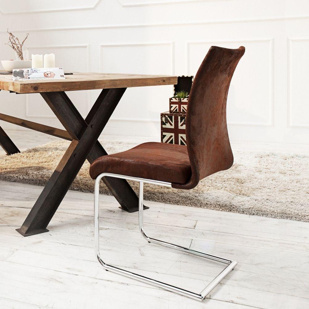design freischwinger stuhl miami braun antik aus. Black Bedroom Furniture Sets. Home Design Ideas