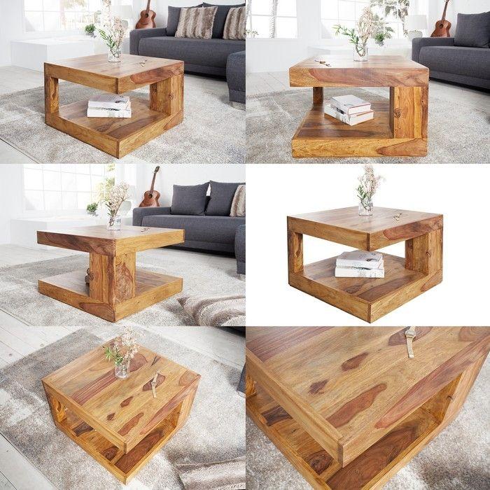 couchtisch agra sheesham massiv holz gewachst 60cm x 60cm portofrei kaufen cag onlineshop. Black Bedroom Furniture Sets. Home Design Ideas