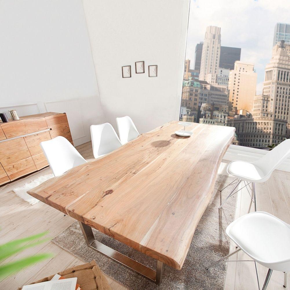 xxl esstisch amba natur massiv akazienholz 300cm 60mm tischplatte portofrei kaufen cag. Black Bedroom Furniture Sets. Home Design Ideas