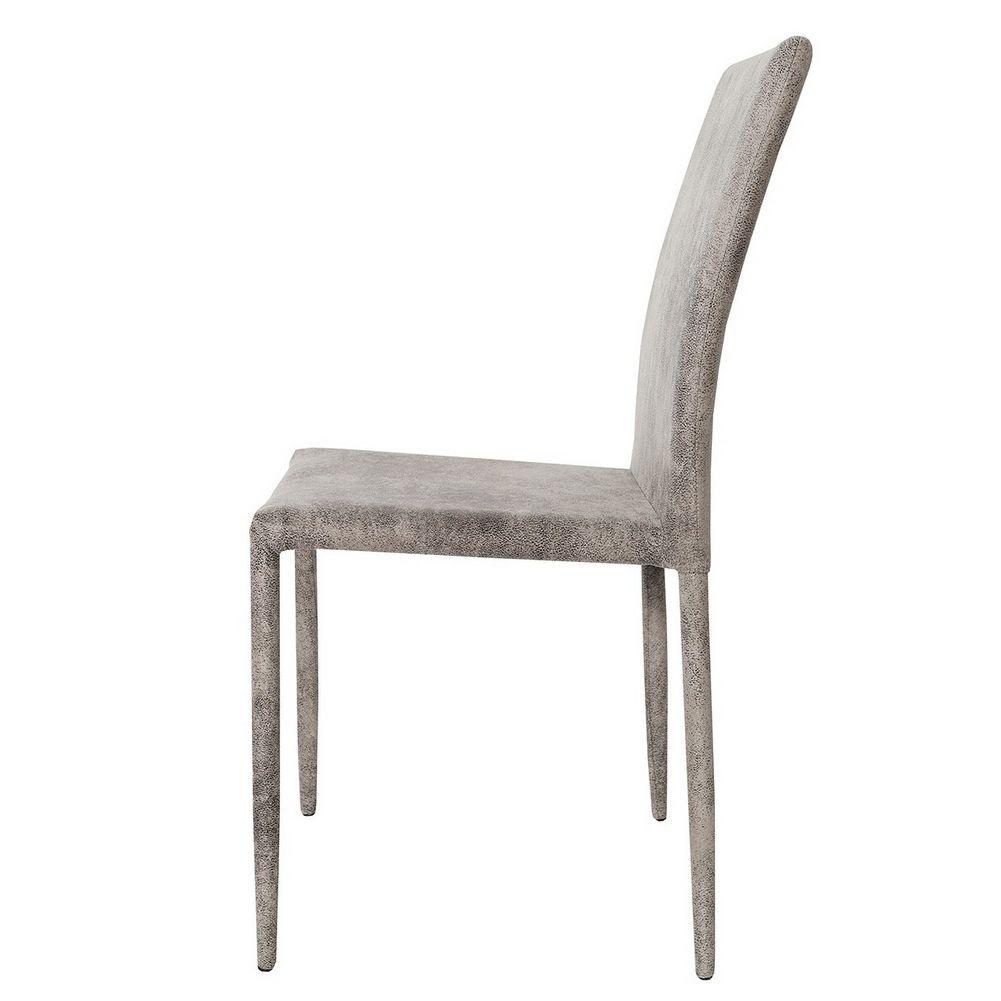 Stuhl boston antik grau aus microfaser mit ziernaht for Stuhl microfaser grau