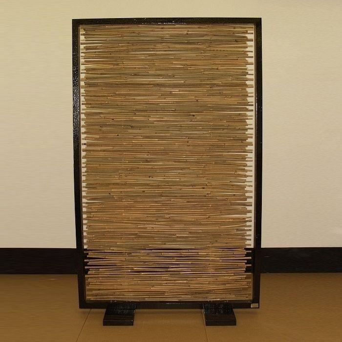 designer paravent raumteiler bamboo aus bambus neu ebay. Black Bedroom Furniture Sets. Home Design Ideas