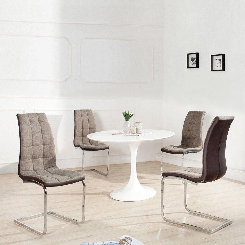 design freischwinger phoenix braun gesteppt aus. Black Bedroom Furniture Sets. Home Design Ideas