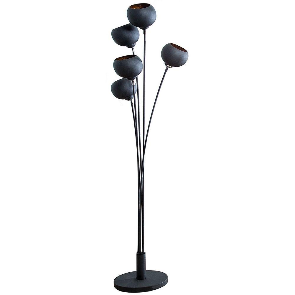 3er set stehlampe spot schwarz gold 170cm h he portofrei. Black Bedroom Furniture Sets. Home Design Ideas
