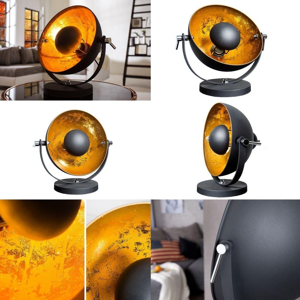 tischlampe spot schwarz gold 40cm h he portofrei kaufen cag onlineshop designerm bel. Black Bedroom Furniture Sets. Home Design Ideas