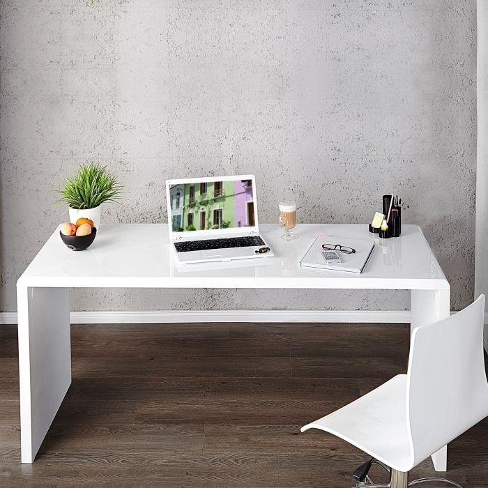 design retro lounge schreibtisch laptoptisch soho weiss hochglanz 120cm neu ebay. Black Bedroom Furniture Sets. Home Design Ideas