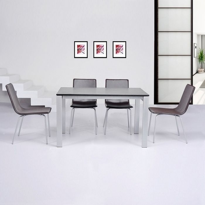 esstisch tisch konferenztisch stockholm oval weiss 100x160cm neu ebay. Black Bedroom Furniture Sets. Home Design Ideas
