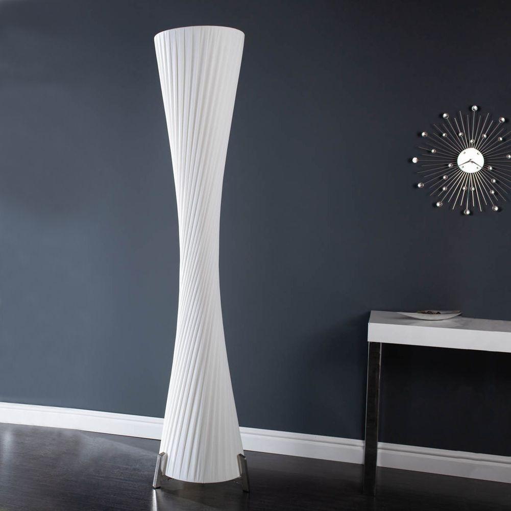 design plissee stehlampe loop wei kegelform 200cm h he. Black Bedroom Furniture Sets. Home Design Ideas