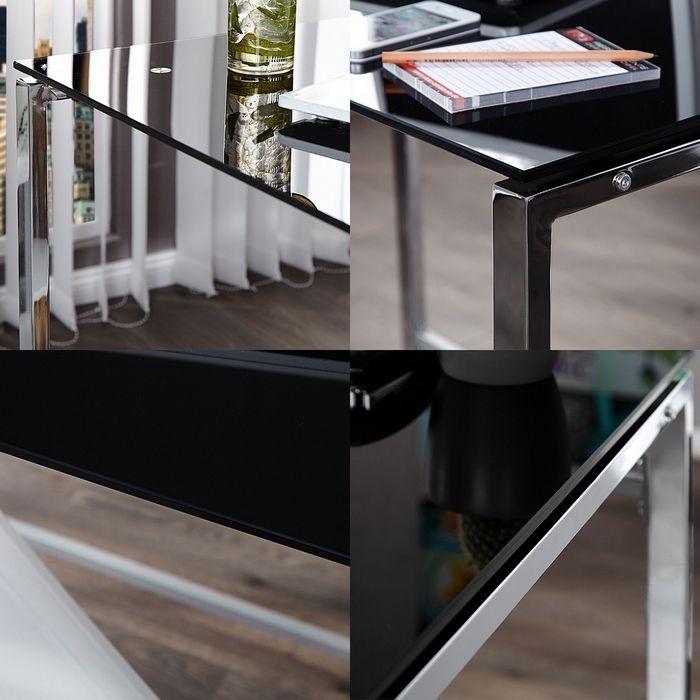 design schreibtisch laptoptisch chelsea schwarz glas. Black Bedroom Furniture Sets. Home Design Ideas