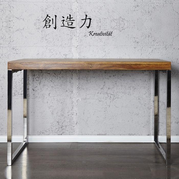 Schreibtisch design günstig  Schreibtisch FULHAM Sheesham massiv gewachst 120cm portofrei ...