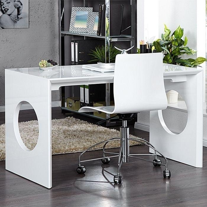 design retro schreibtisch laptoptisch kensington weiss hochglanz 120cm neu ebay. Black Bedroom Furniture Sets. Home Design Ideas
