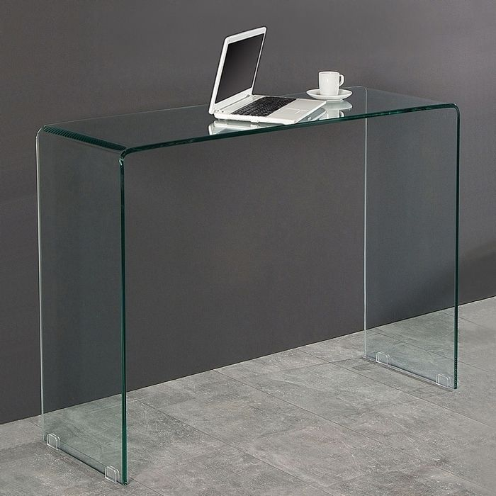 schreibtisch mayfair glas transparent 100cm portofrei g nstig online bestellen cag onlineshop. Black Bedroom Furniture Sets. Home Design Ideas
