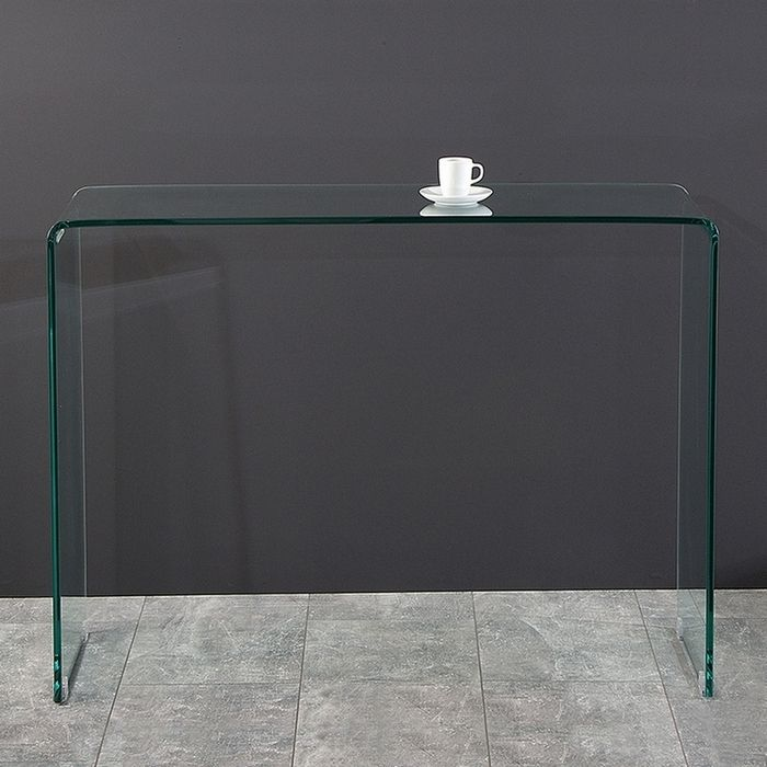 design glasschreibtisch schreibtisch laptoptisch mayfair glas 100cm x 35cm neu ebay. Black Bedroom Furniture Sets. Home Design Ideas