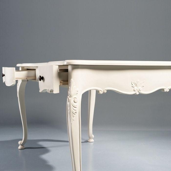m rchenhafter barock schreibtisch amelie weiss creme aus. Black Bedroom Furniture Sets. Home Design Ideas