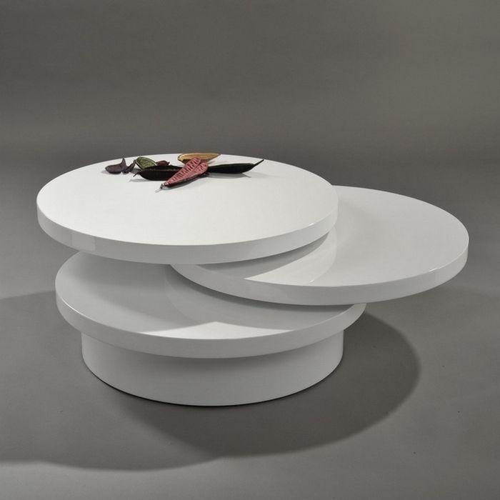 3 ebenen couchtisch beistelltisch circulaire wei for Couchtisch schwenkbar