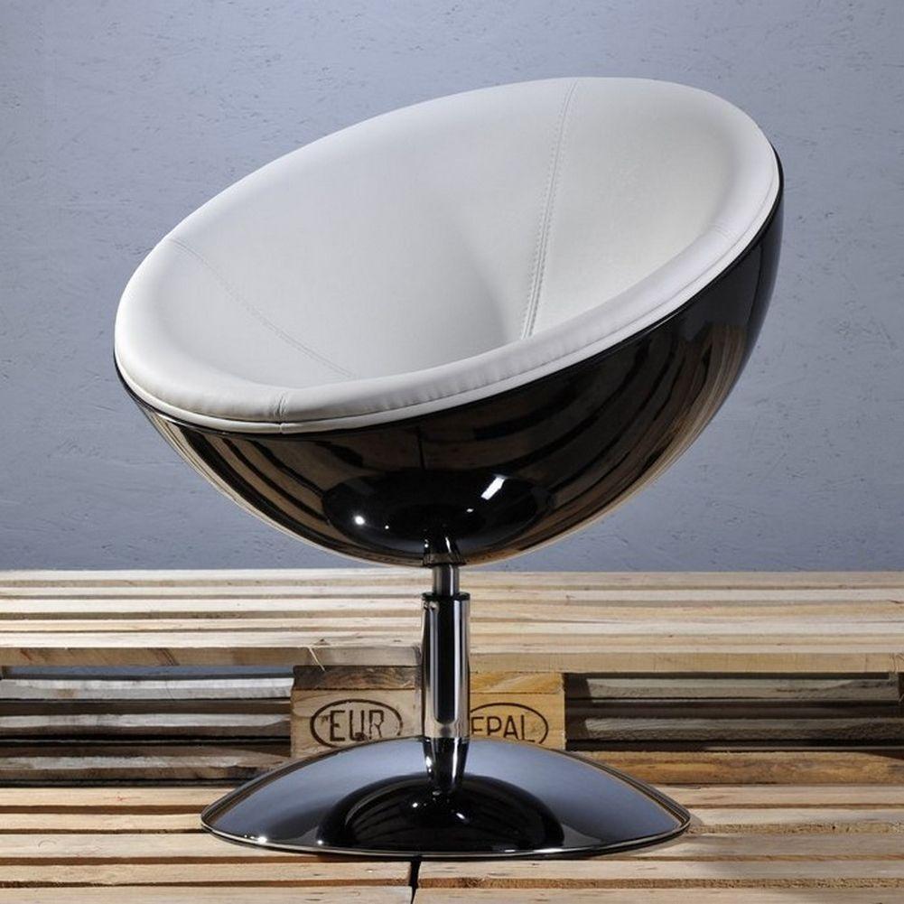 designer retro lounge clubsessel sessel cocktailsessel stockholm schwarz weiss ebay. Black Bedroom Furniture Sets. Home Design Ideas