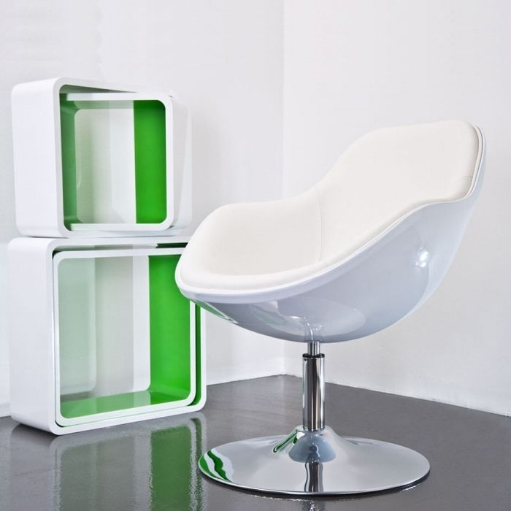 designer retro lounge sessel cocktailsessel kopenhagen wei drehbar cag onlineshop. Black Bedroom Furniture Sets. Home Design Ideas