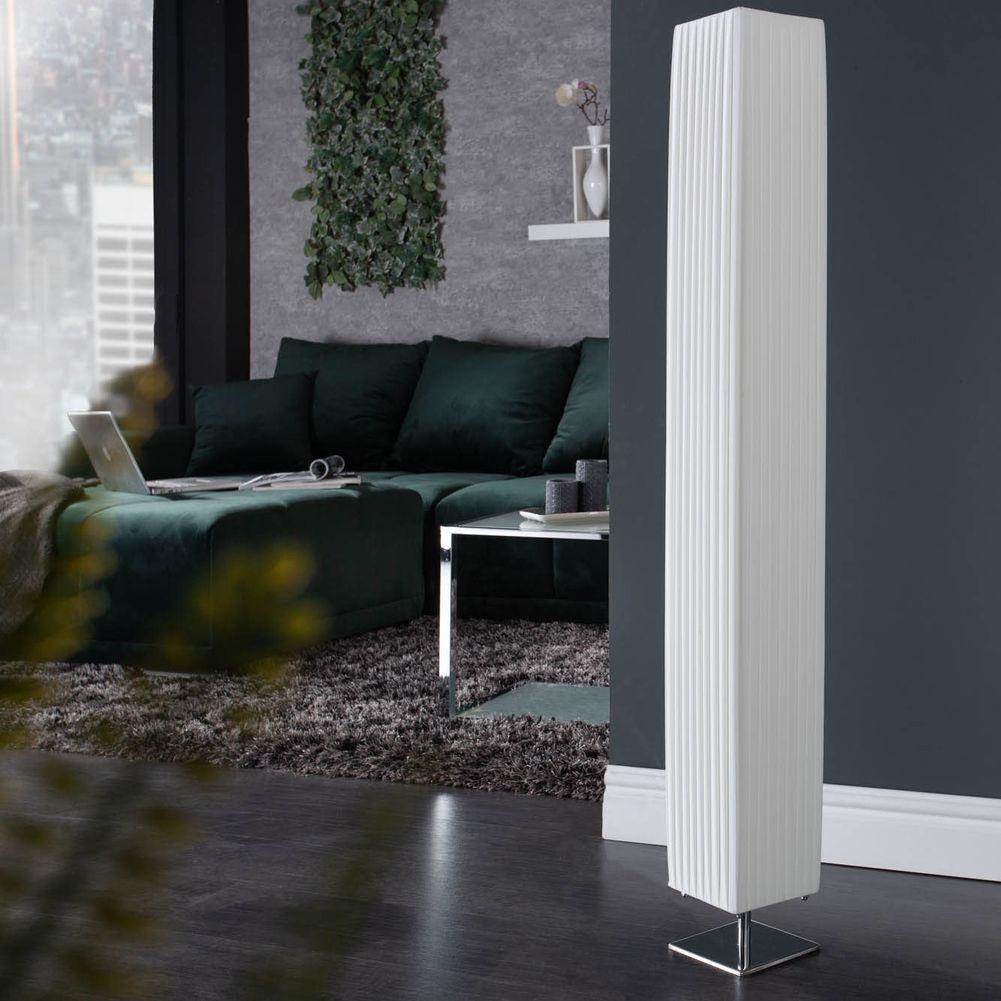 design plissee stehlampe loop eckig wei 120cm h he cag. Black Bedroom Furniture Sets. Home Design Ideas
