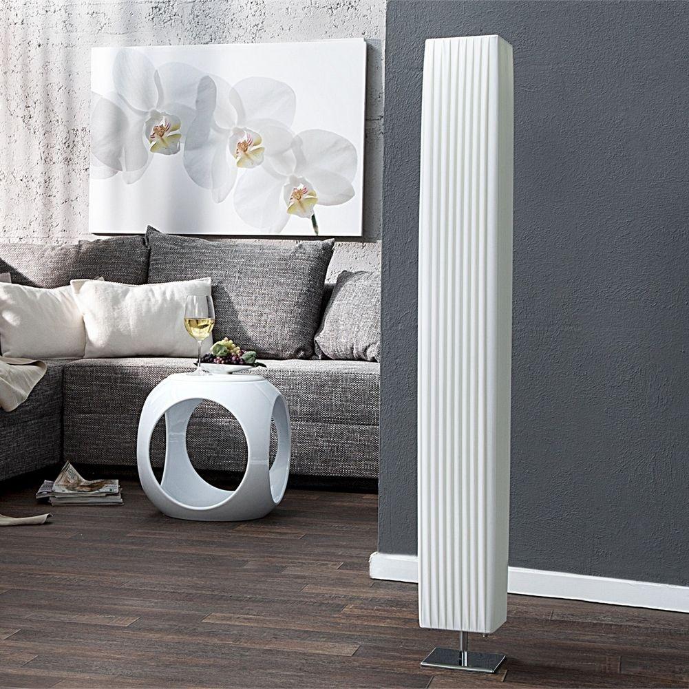 design plissee stehlampe loop wei eckig 120cm h he portofrei kaufen cag onlineshop. Black Bedroom Furniture Sets. Home Design Ideas