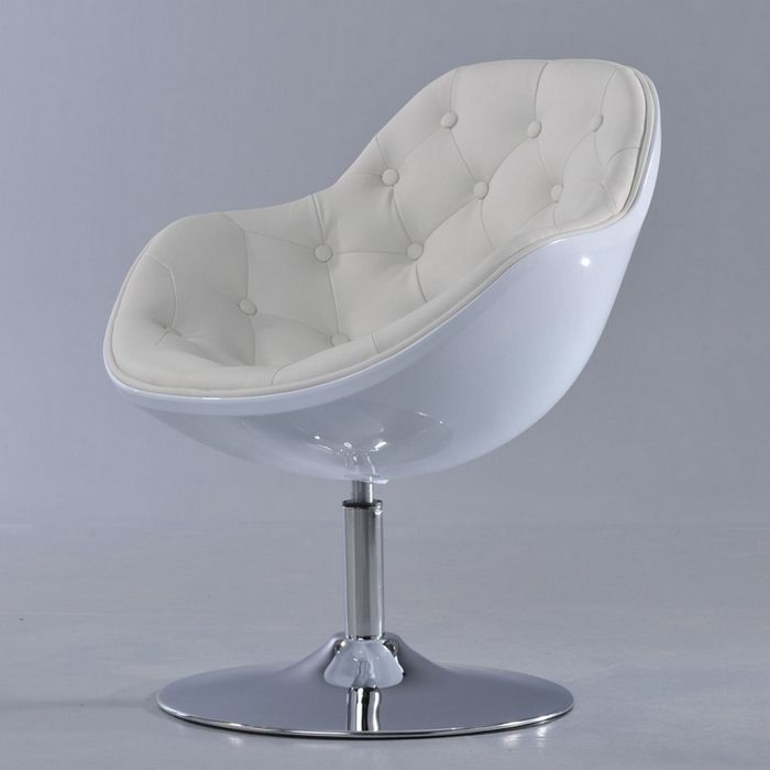 design retro lounge sessel cocktailsessel clubsessel kopenhagen knopf weiss ebay. Black Bedroom Furniture Sets. Home Design Ideas