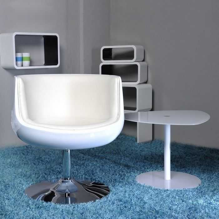 design retro lounge cocktailsessel sessel clubsessel oslo weiss drehbar neu ebay. Black Bedroom Furniture Sets. Home Design Ideas