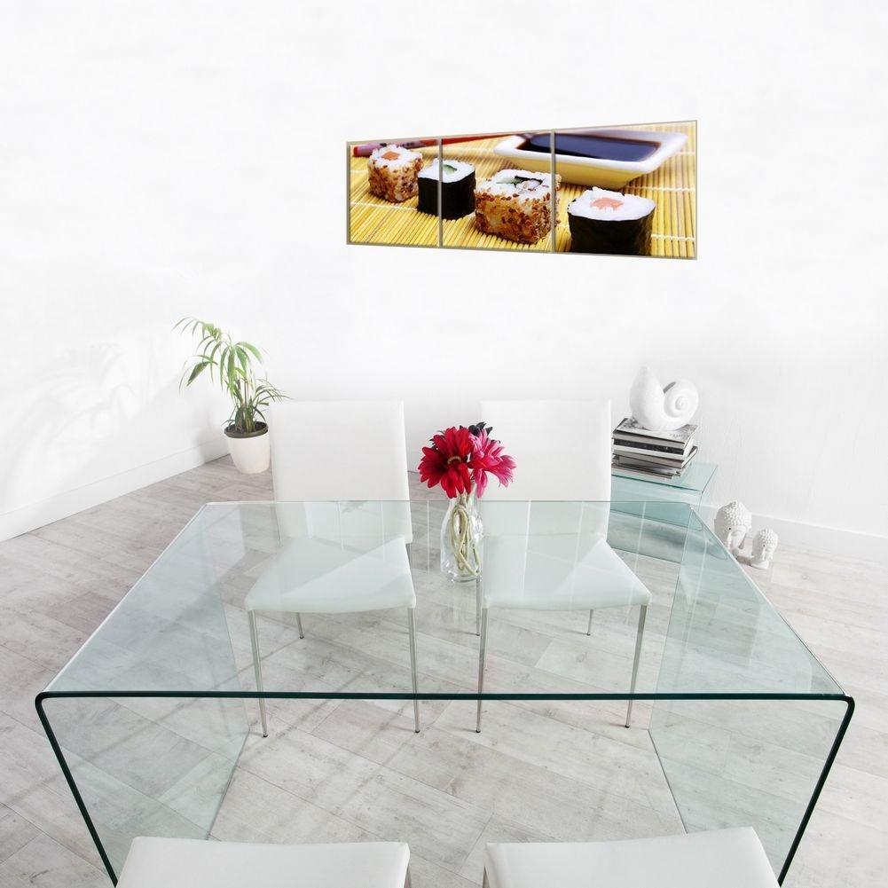 Esstisch Transparent ~ Esstisch MAYFAIR Glas transparent 120cm portofrei günstig online bestellen ca