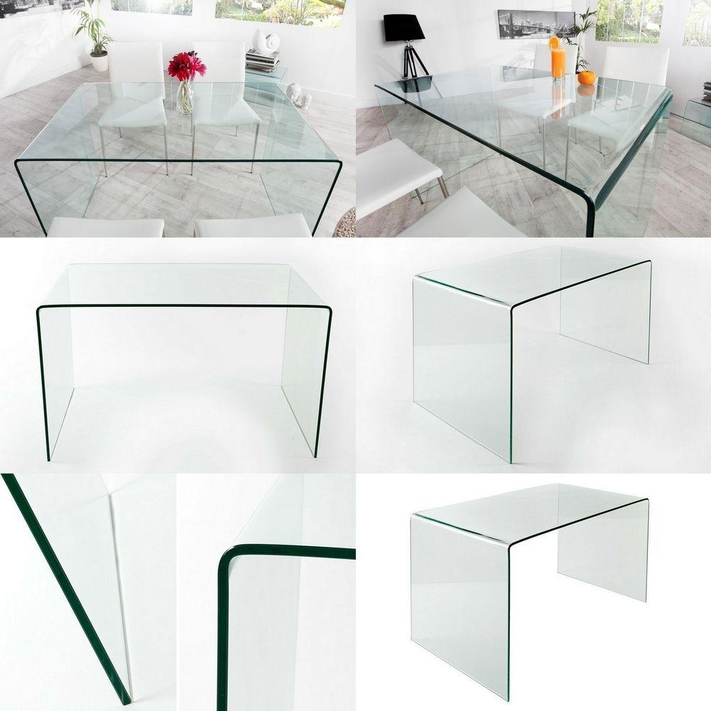 design retro lounge esstisch esszimmertisch mayfair glas 120cm x 70cm neu ebay. Black Bedroom Furniture Sets. Home Design Ideas
