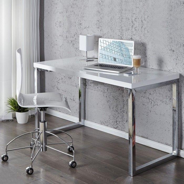 designer retro schreibtisch laptoptisch oxford weiss hochglanz 120cm neu ebay. Black Bedroom Furniture Sets. Home Design Ideas