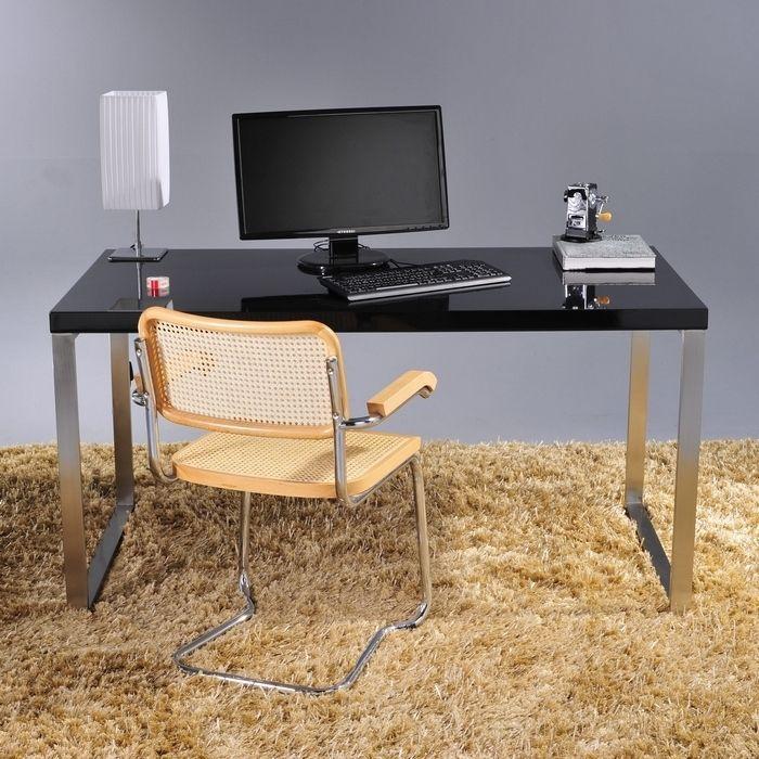 Schreibtisch princeton schwarz hochglanz 150cm