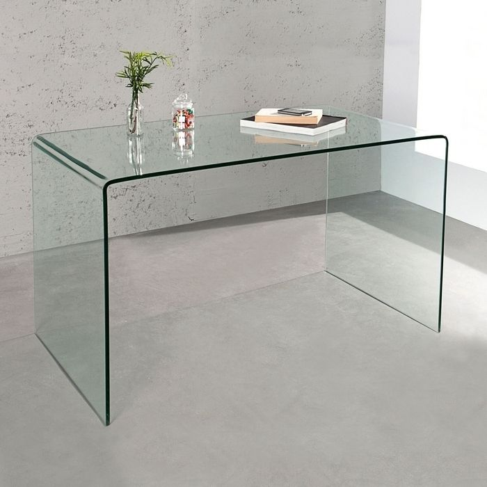 schreibtisch mayfair glas transparent 120cm portofrei g nstig online bestellen cag onlineshop. Black Bedroom Furniture Sets. Home Design Ideas
