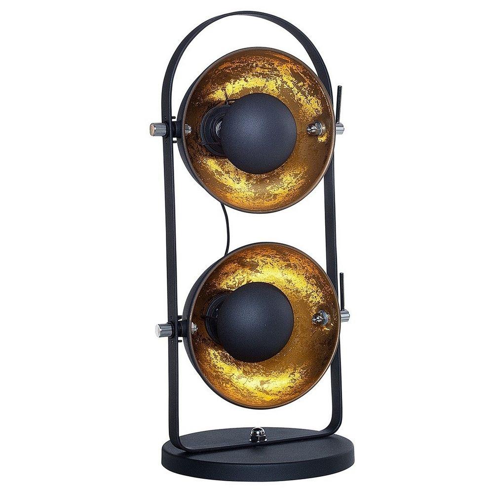 2er tischlampe spot schwarz gold 55m h he portofrei kaufen cag onlineshop designerm bel. Black Bedroom Furniture Sets. Home Design Ideas