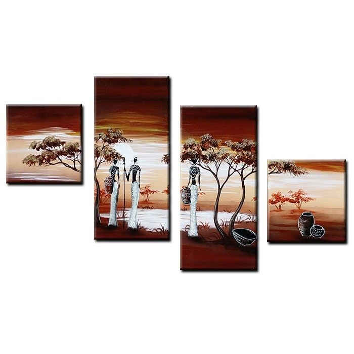 4 leinwandbilder afrika frau 2 80 x 50cm handgemalt cag design m bel onlineshop. Black Bedroom Furniture Sets. Home Design Ideas