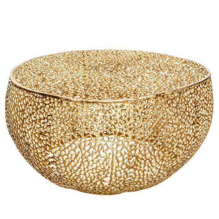 Designer-Unikat-Tisch in Gold