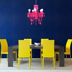 design kronleuchter gia lila 5 armig 38cm portofrei. Black Bedroom Furniture Sets. Home Design Ideas
