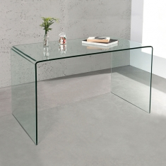 Esstisch MAYFAIR Glas transparent 120cm